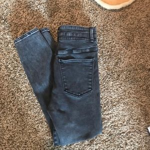 Abrocrombie and Fitch High-Waisted Black Jeans